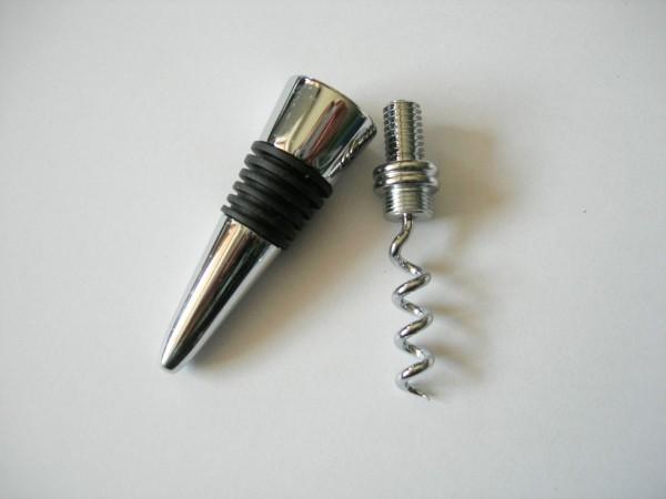 Kombinierter Flaschenverschluss mit Korkenzieher