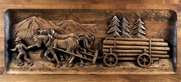 Langholzfuhrwerk