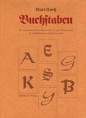 Buchstaben und Schriften