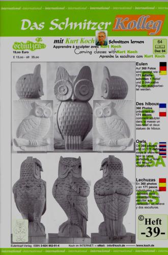 Kolleg Nr. 39 Drei Eulen als Relief und Figur