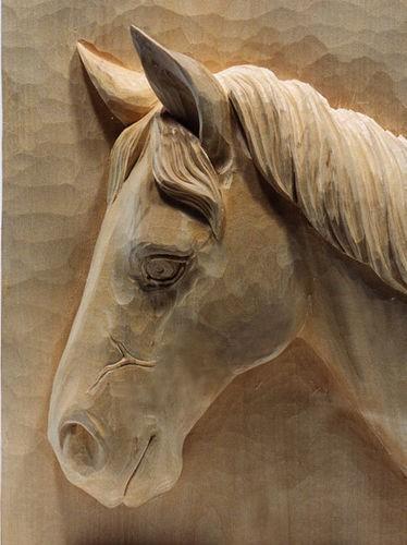 Lindenblock f. Pferdekopf 33x25x9 cm