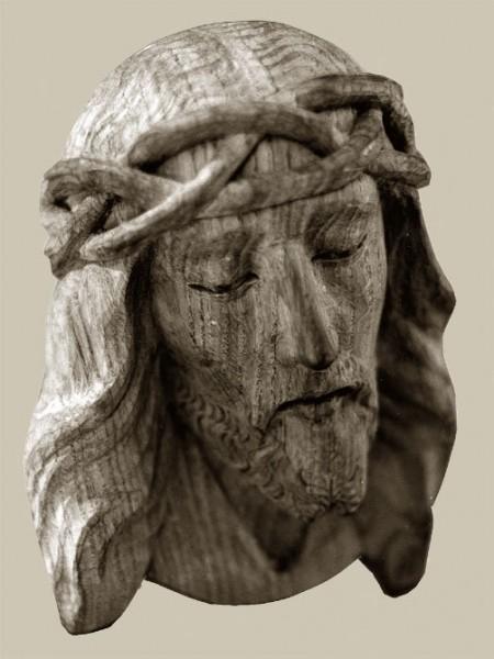 Christuskopf, leidend