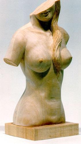 Lindenblock f. Weiblicher Akt 35x20x13 cm