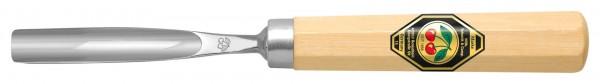 Gebogenes Hohleisen (kurzer Shaft, ca. 90mm) Stichbild 10
