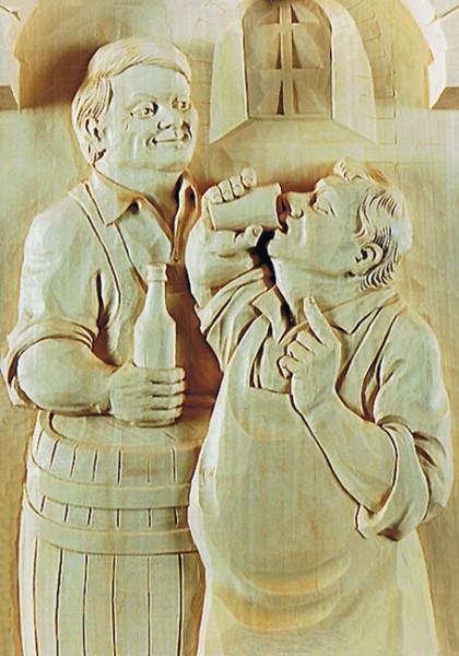 Lindenbrett f. Relief Kellermeister 47x26x3 cm
