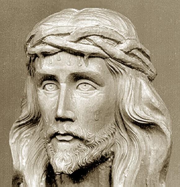 Christuskopf, triumphierend