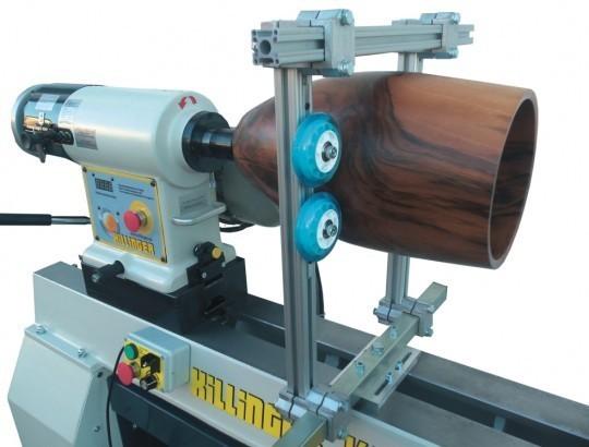 Lünette zur Montage auf Drehbankbett - Spezialausführung - Spitzenhöhe 200 - 250 mm