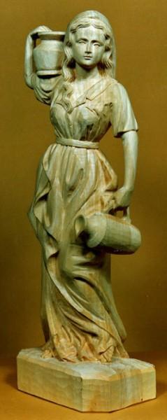 Lindenblock f. Wasserträgerin 53x18x15 cm