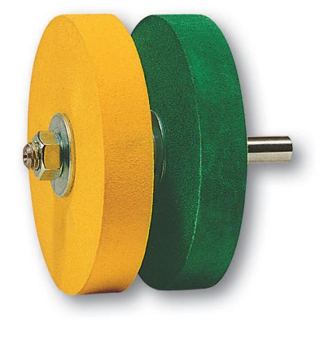 KOCH-Schärfset auf 12 mm Dorn gelb/grün