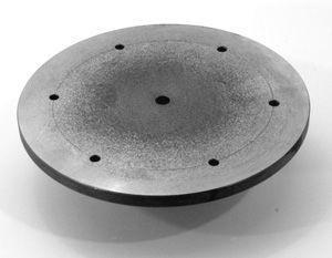 Planscheibe, Stahl mit zwei Teilkreisen Ø 240mm