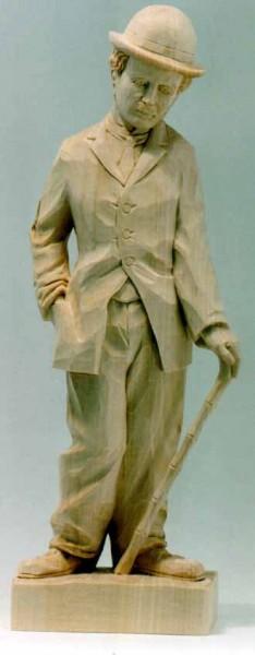 Lindenblock f. Charlie Chaplin48x18x10 cm