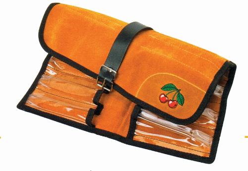 Velourslederrolltasche, 12 Steckplätze
