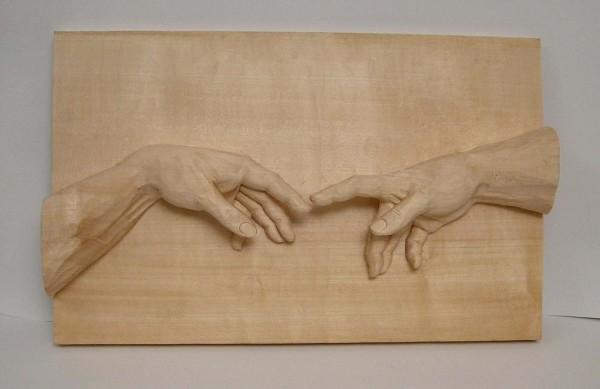 Relief: Die Hände nach Miguel Angelo