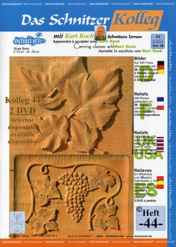 Kolleg Nr. 44 2 Reliefs - Weinranke und Herbstblätter
